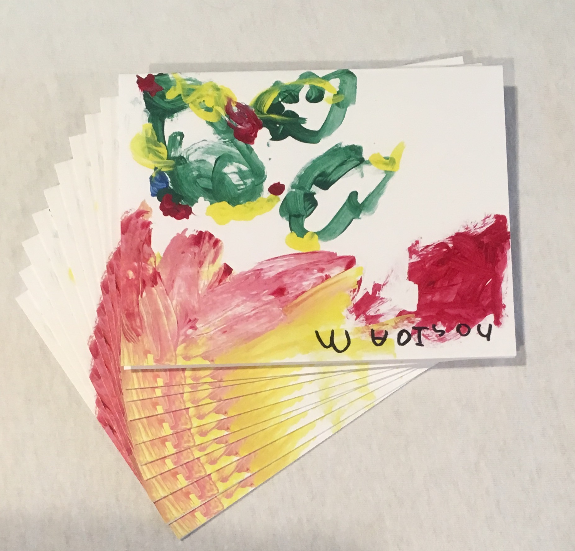 Christmas Trees Blank Greeting Cards The Upside Down Artist